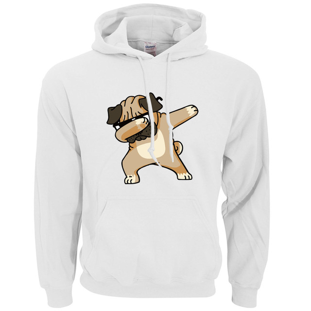 Animal Dabbing Pug Graphic Print Men's Hoodies  5