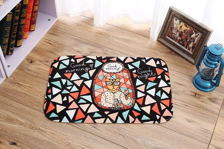 flanella fumetto gatto ingresso zerbino zona cucina tappeto runner camera da letto carpet mat coperta 40