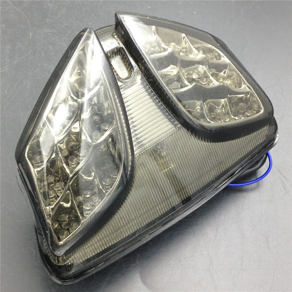 Aftermarket free shipping motorcycle parts LED Tail Brake Light for 2008-2009 Suzuki GSXR 600 GSX-R600 750 GSX-R750 Smoke aftermarket free shipping motor parts for motorcycle 1989 2007 suzuki katana 600 750 billet oil brake fluid reservoir cap chrome