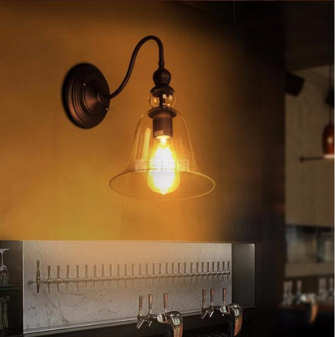 Nordic LOFT American Country Style Restaurant Retro Industrial Bar cafe hotel wall Light Lamp,Creative British Lighting