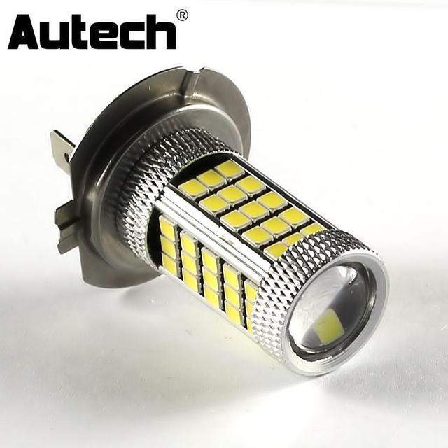 Autech 1 Stuk 63 SMD 2835 Led lampen Auto LED H7 Fog Gloeilamp DRL ...