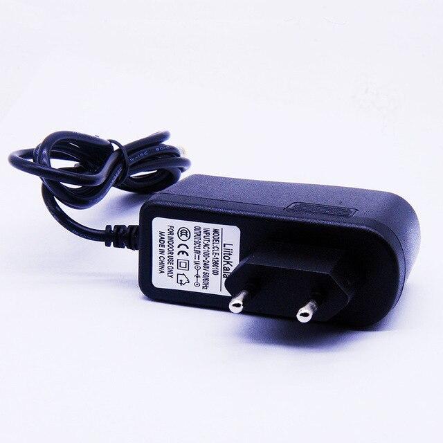 HK LiitoKala 12 V şarj 12.6 V 1A AB dc güç adaptörü 5.5*2.1mm kablo lityum iyon pil LED lambalar güç şarj cihazı