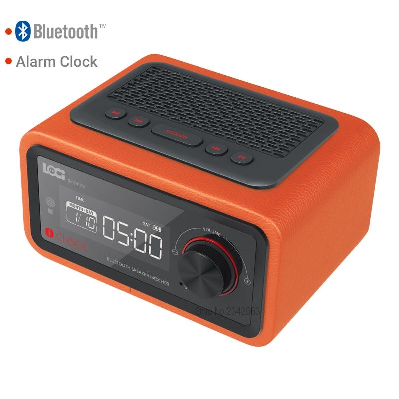 NEW Alarm clock Bluetooth speaker Alarm card Player wireless Subwoofer radio FM Four group Alarm clock calendar Free shipping