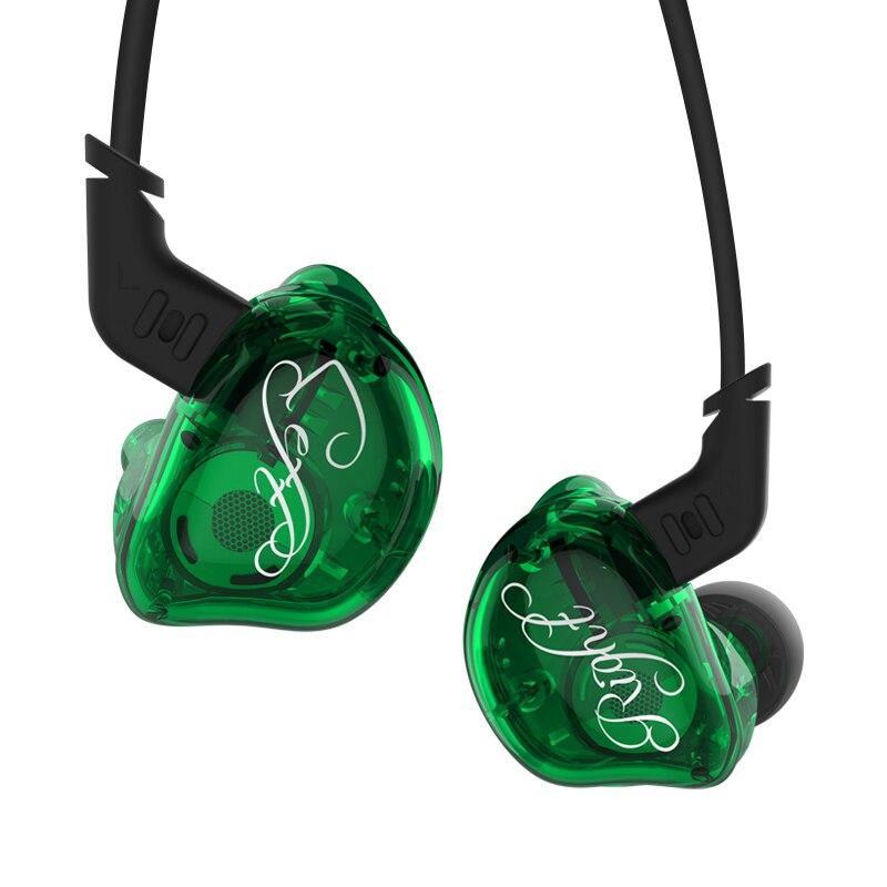 KZ ZSR 2BA + 1DD unidad híbrida en el auricular del oído HIFI auriculares con 2PIN Cable de reemplazo deporte EarphoneKZ ES4/ ED16 KZ ZS10 KZ AS10