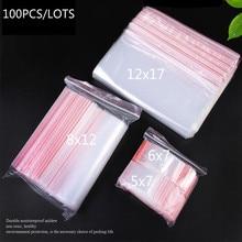 30pcs/lot 5 Size Ziplock bag medium PE Zipper Transparent plastic can be customized