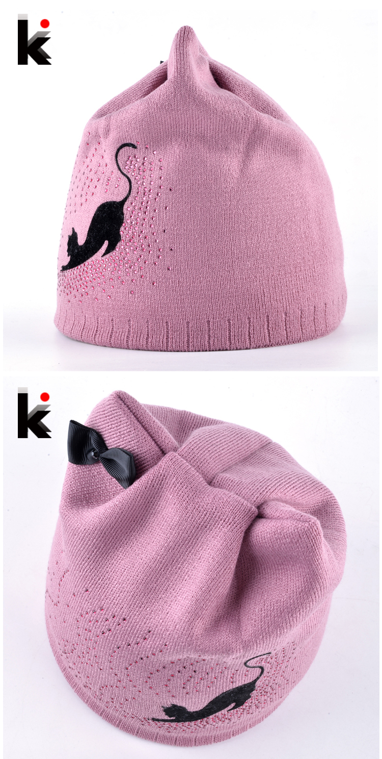 Cat Winter Beanie Hat With Ear Flaps