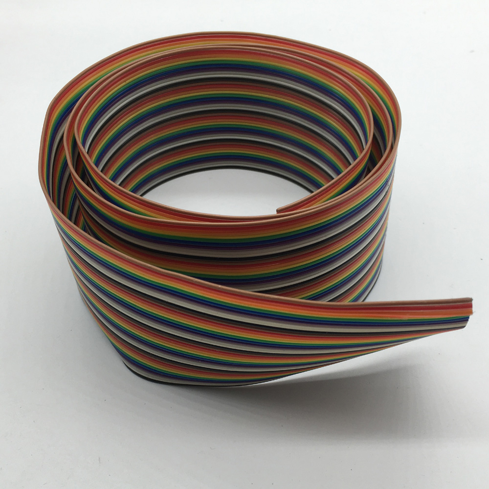 1m 2m 3m 4m 5m 10m 40pin Dupont Wire Flat Color Rainbow Ribbon Cable Standard Colors For Electrical Wiring Type Idc 10 4 Group Total 40pcs Cables Per Lot Pitch 120mm 1 Meter33ft Package Included