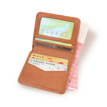 Genuine leather women small wallet female card holder