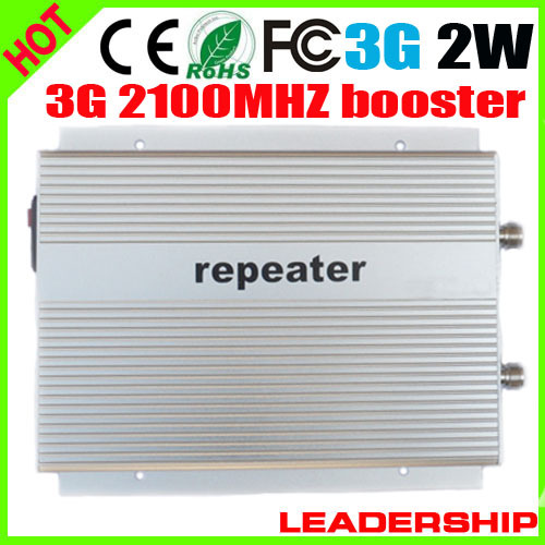 Free Shipppping WCDMA990A W-CDMA UMTS RF 2W Watt 2100mhz 3G Cell/mobile Phone Repeater Booster Detector Repetidor Amplifier