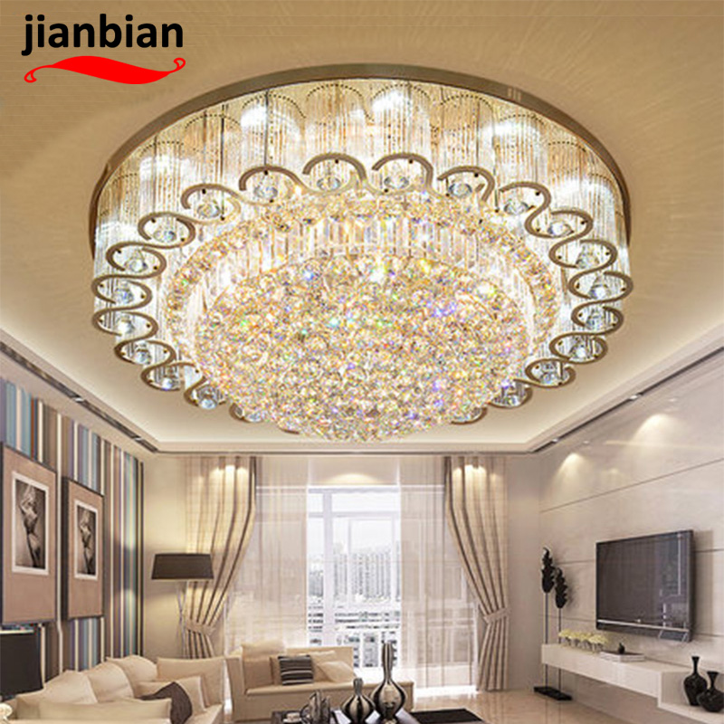 crystal celling light round shape moderm simple application living room bedroom hotel hall warm and sweet