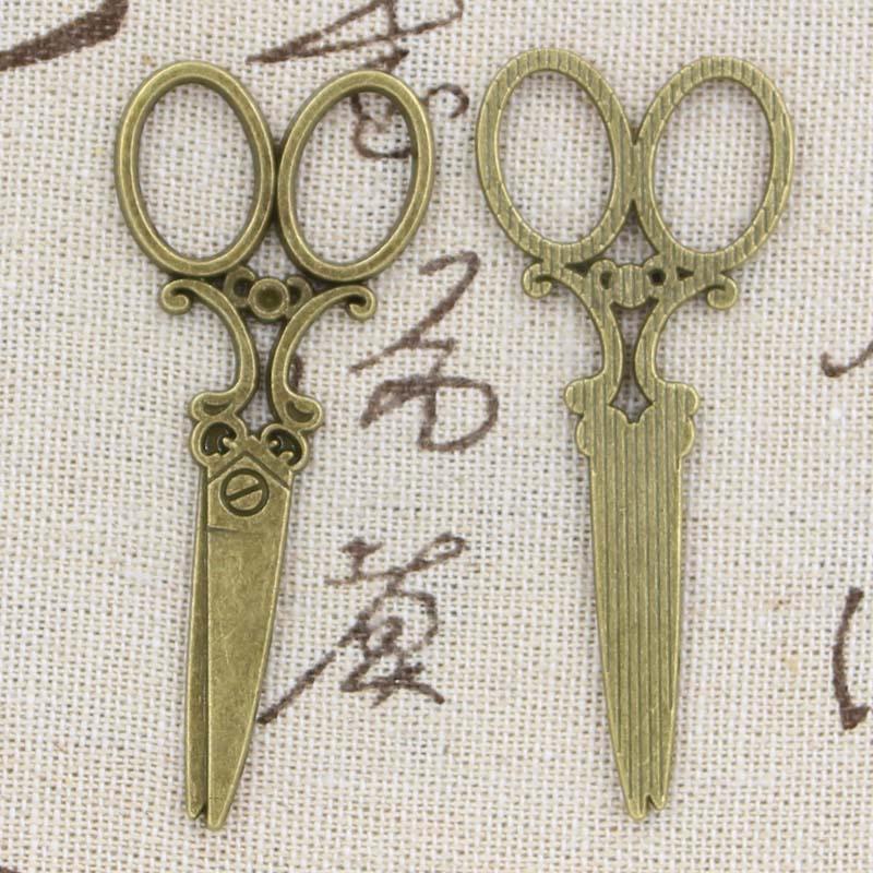 5pcs Charms Sewing Scissors 61x25mm Antique Making Pendant fit,Vintage Tibetan Bronze Silver color,DIY Handmade Jewelry 2