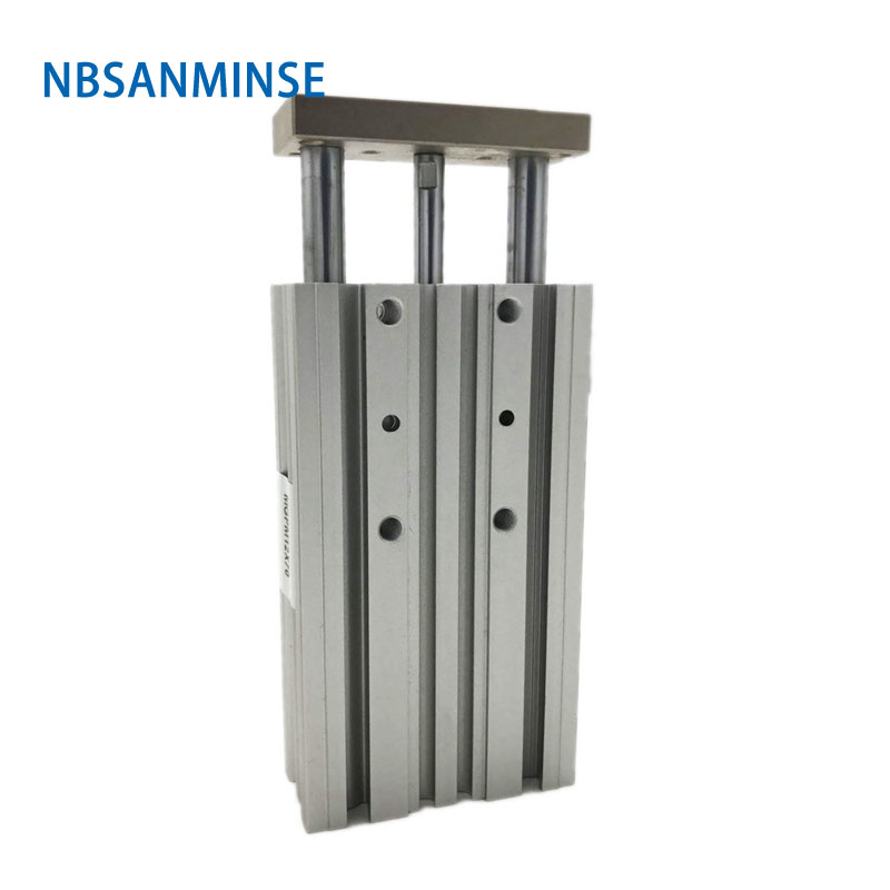 Nbsanminse Mgpm Compact Guide Type Cylinder  Miniature Guide Rod Pneumatic Air Cylinder Double Acting