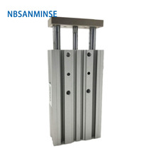 NBSANMINSE MGPM 25 32 40 50 63mm Compact Guide Type Cylinder  Miniature Guide Rod Pneumatic Air Cylinder Double Acting