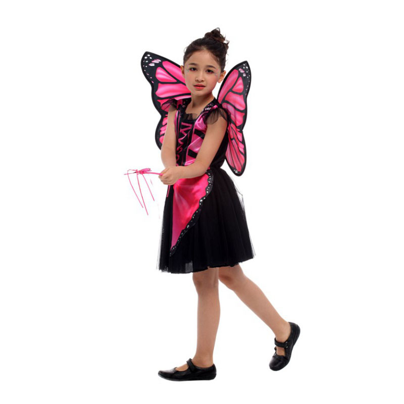 Pink Butterfly Fairy Elf Princess Halloween Costume  2