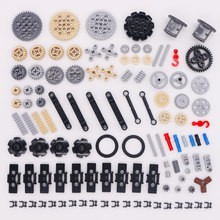 Blocks Technic Parts Bulk Gear Pin Axle Conector Set Wheels Pulley Chain Link Car Toys Compatible Legoed Technic Building Bricks(China)