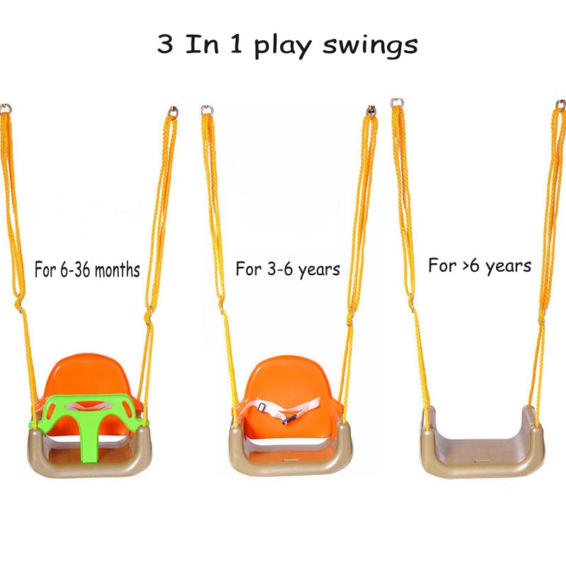 3 In 1 Baby Swings Kids Children Rocking Chair Outdoor Garden Park Safety Kids Baby Rocking Swings