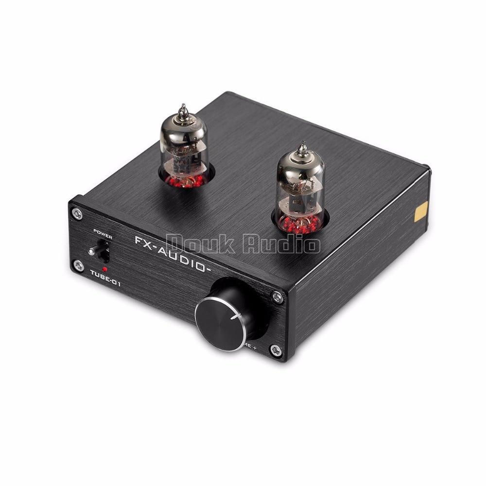 Douk Audio Mini 6J1 Valve & Vacuum Tube Pre-Amplifier Stereo HiFi Buffer Preamp douk audio 6h3n vacuum tube preamplifier hifi buffer pre amp matisse circuit new