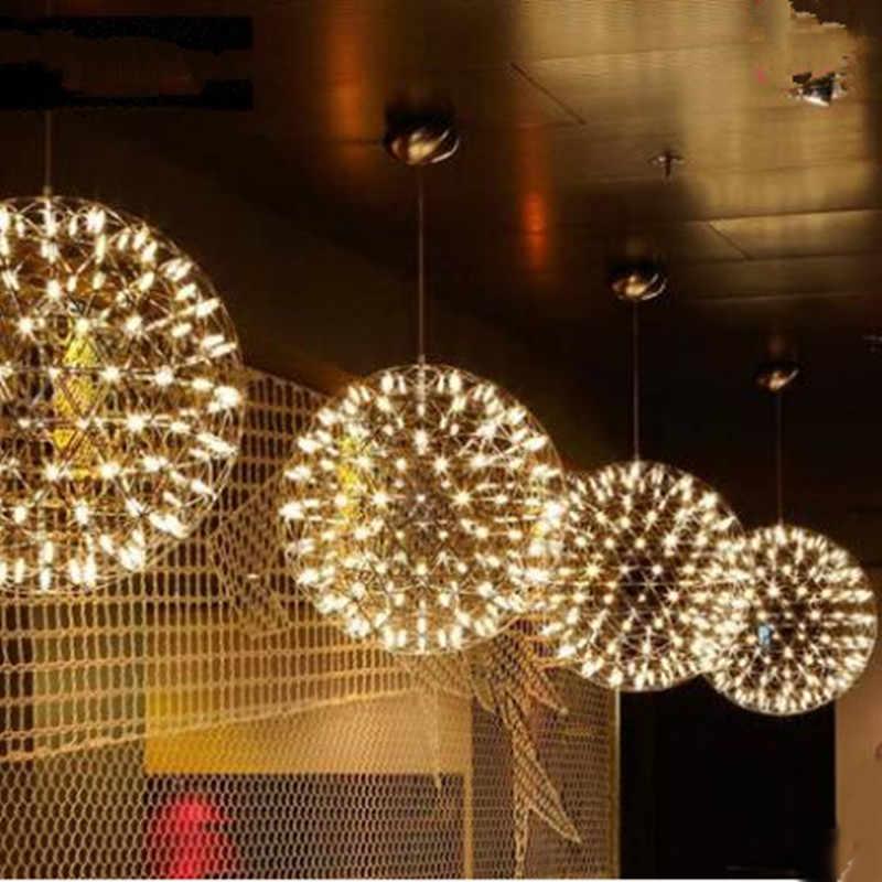 Nordic The fireworks Sparks Planet LED pendant light star ball vintage lamp  modern indoor decoration shop bar lighting fixture