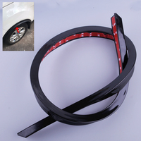 DWCX Black TPVC Auto Car Fender Flare Wheel Eyebrow Protector Wheel Arch Lips Cover Trim Strip