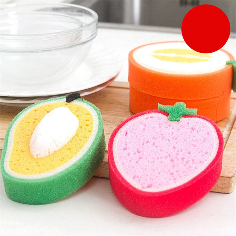 1 pcs Fruits Sponge BrushTool household items