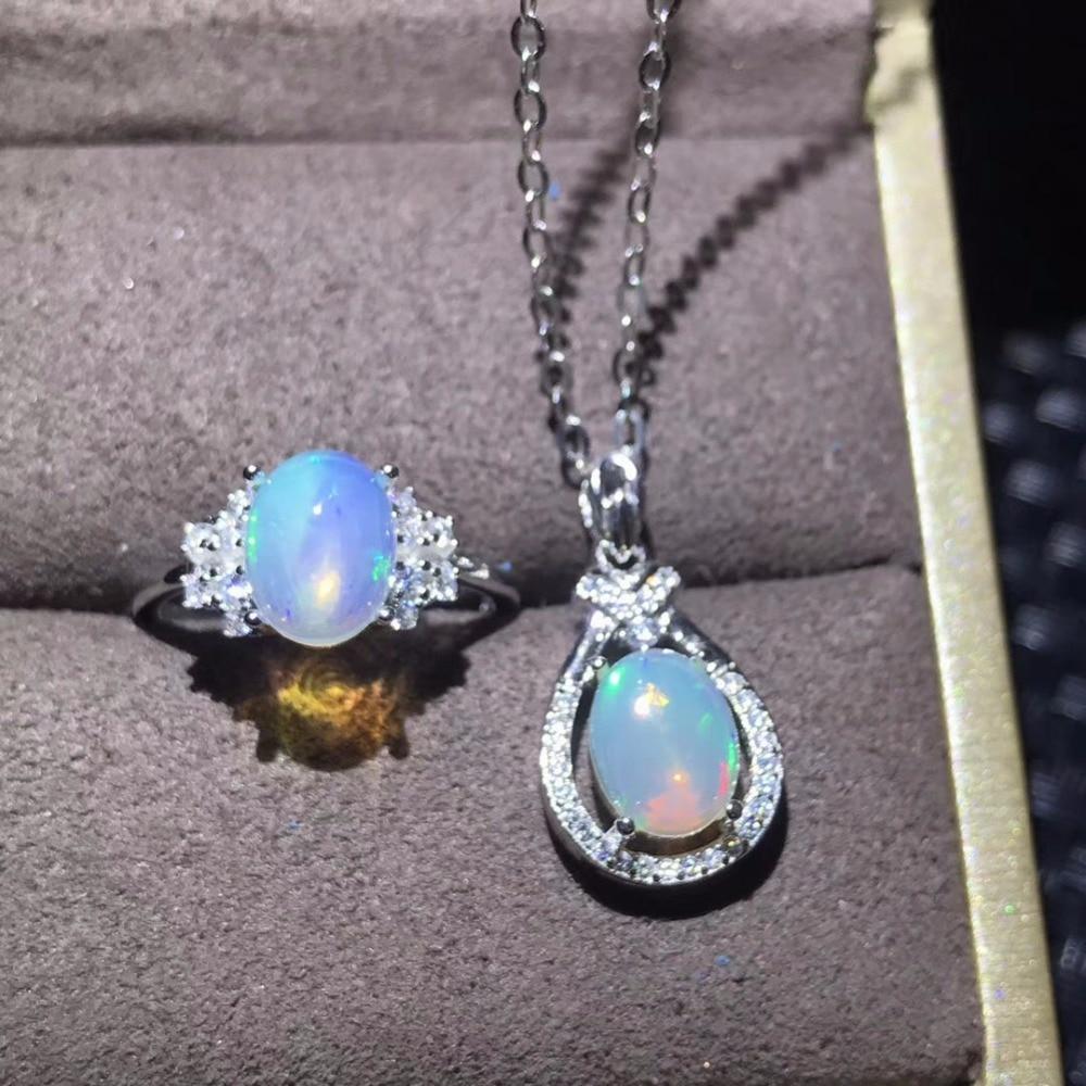 Natural opal set, transform color, glamour fashion, popular gems, ladies favorite, 925 silver send chain   Natural opal set, transform color, glamour fashion, popular gems, ladies favorite, 925 silver send chain