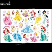 SHNAPIGN Snow White Children Cartoon Temporary Tattoos Sticker Fashion Style Elsa Waterproof Girls Kids Boys Hot