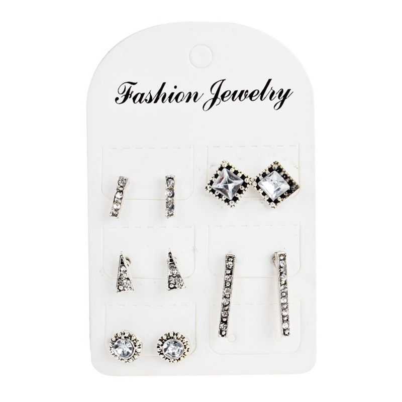 New Style 5 Pairs Women Classic Stud Earrings Suit Geometric Bohemia Earrings Jewelry Gift