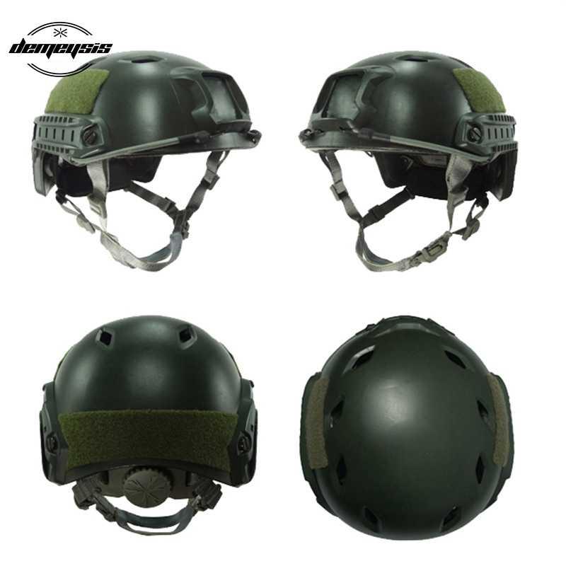 accesorios para CS War-Game Shooting casco t/áctico de cubierta completa Casco para paintball militar t/áctico con lente de PC
