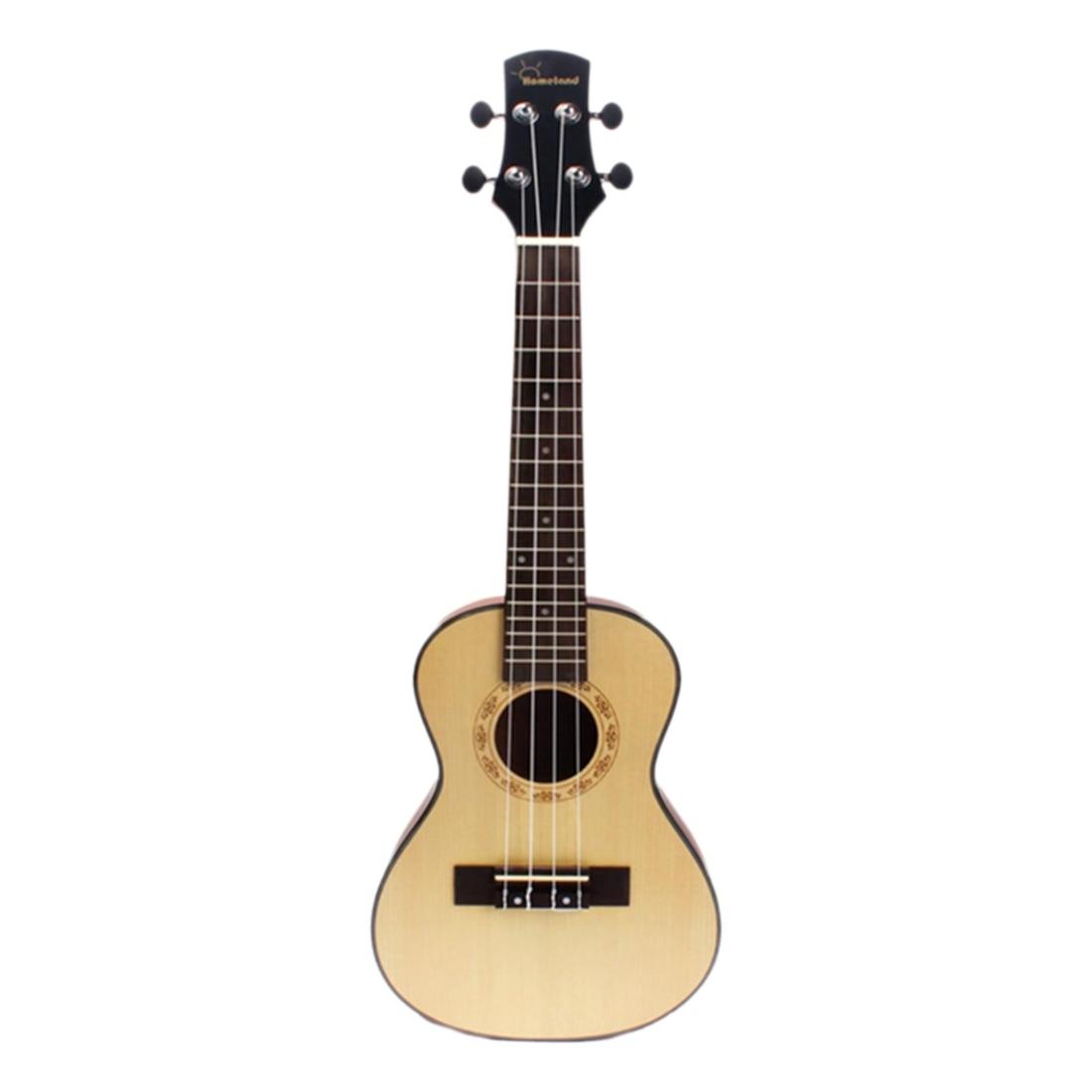 Petite guitare hawaïenne compacte 4 cordes 24''
