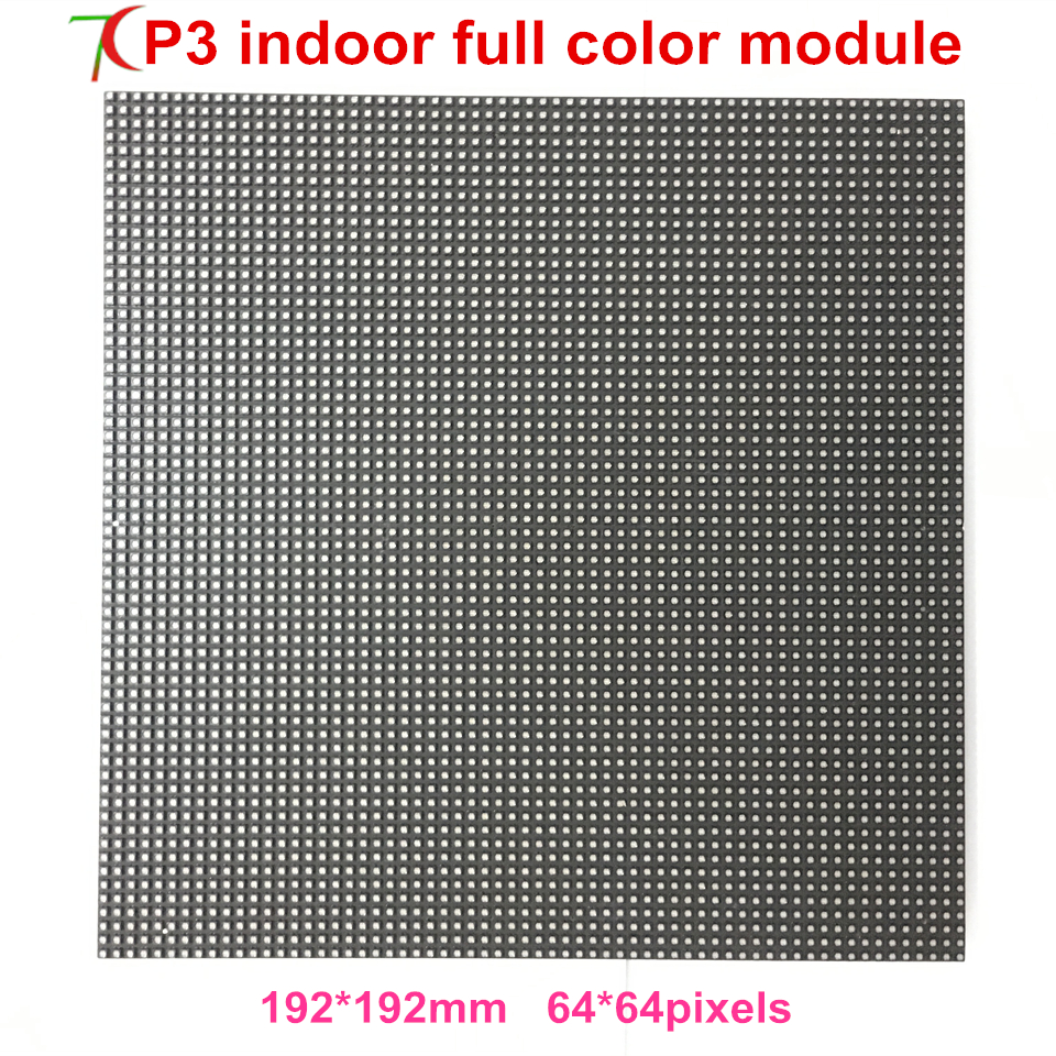 P3 Indoor Smd 192*192mm Full Color Led Module For Video Wall,32scan,111111dots/sqm
