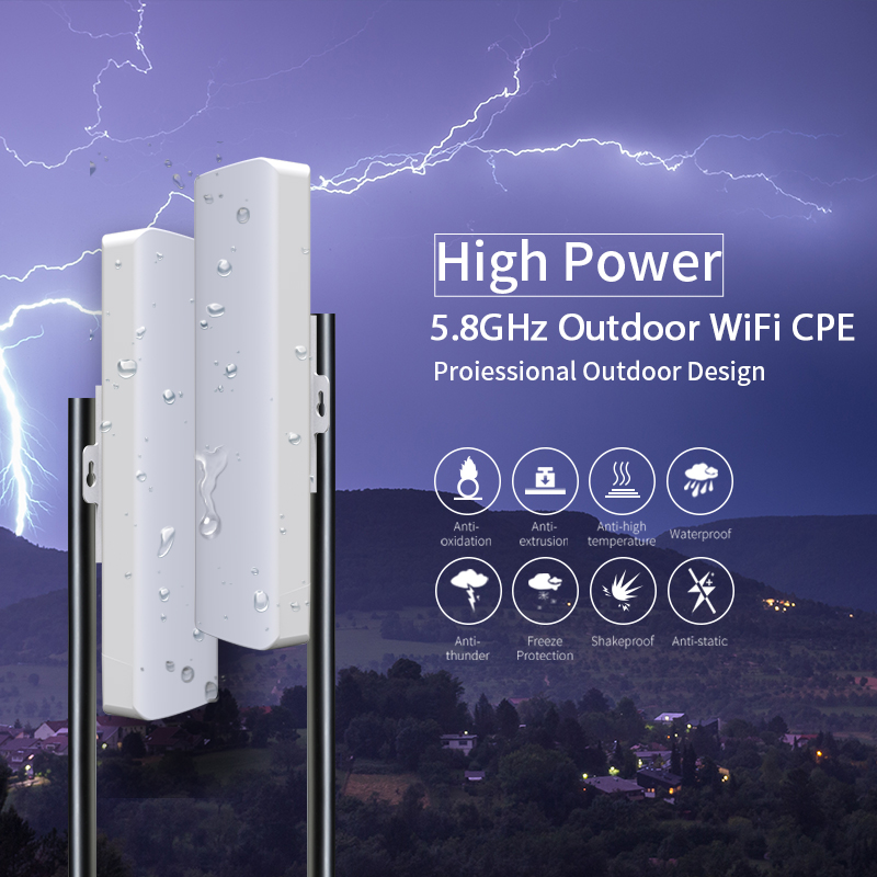 2pcs High Power 5Ghz Outdoor Wifi Repeater 300Mbps 23 dbm Wireless Wifi Router Bridge Extender CF-E312A 2*14dbi Wi fi Antenna 300mbps 5 8ghz outdoor access point with 2 14dbi wi fi antenna high power wireless bridge comfast cf e312a wifi cpe nanostation