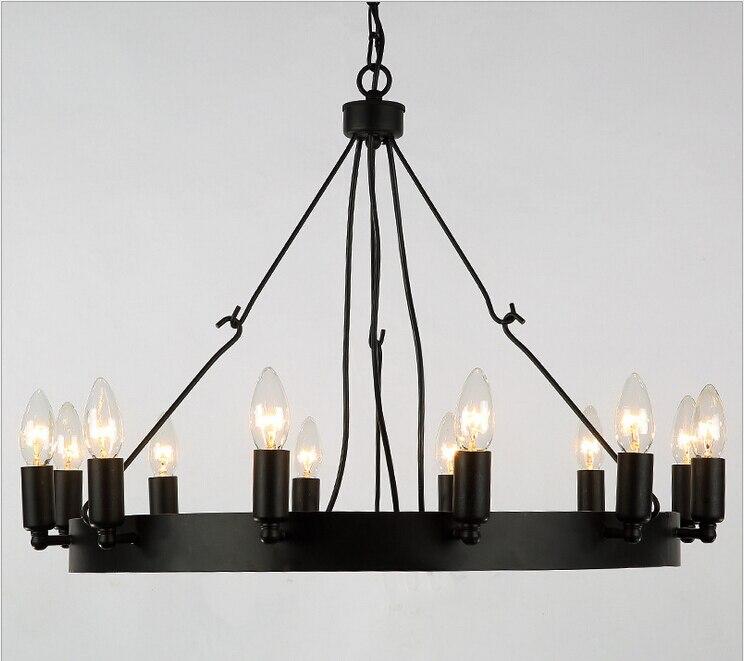 Nordic luces retro colgante led comedor l mparas de hierro for Luces colgantes para comedor