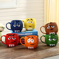 Cute M&M's MM Beans Ceramic Color Glaze Coffee Milk Mug Water Tea Cup Cafe Oatmeal Mug Drinking Cup