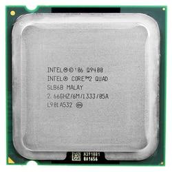 Intel Core 2 Quad Q9400 CPU Processor (2.66 GHz/6 M/1333 GHz) socket LGA 775 Desktop CPU Gratis Pengiriman Papan Utama CPU Combo