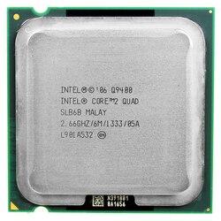 Intel core 2 quad Q9400 CPU İşlemci (2.66 Ghz/6 M/1333 GHz) soket LGA 775 masaüstü CPU ücretsiz kargo anakart cpu combo
