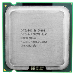Intel core 2 quad Q9400 CPU (procesador de 2,66 Ghz/6 M/1333 GHz) Socket LGA 775 CPU envío gratis placa base cpu combo