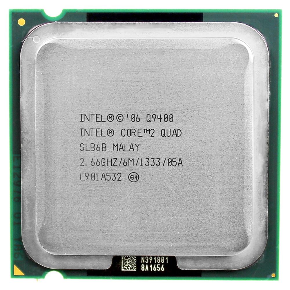 Intel core 2 quad Q9400 procesor CPU (2.66 Ghz/6 M/1333 GHz) gniazdo LGA 775 procesor pulpitu darmowa wysyłka płyta główna procesora combo