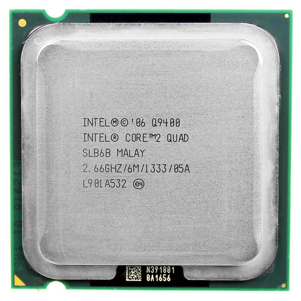 Processeur d'unité centrale intel core 2 quad Q9400 (2.66 Ghz/6 M/1333 GHz) Socket LGA 775 bureau CPU livraison gratuite carte mère cpu combo