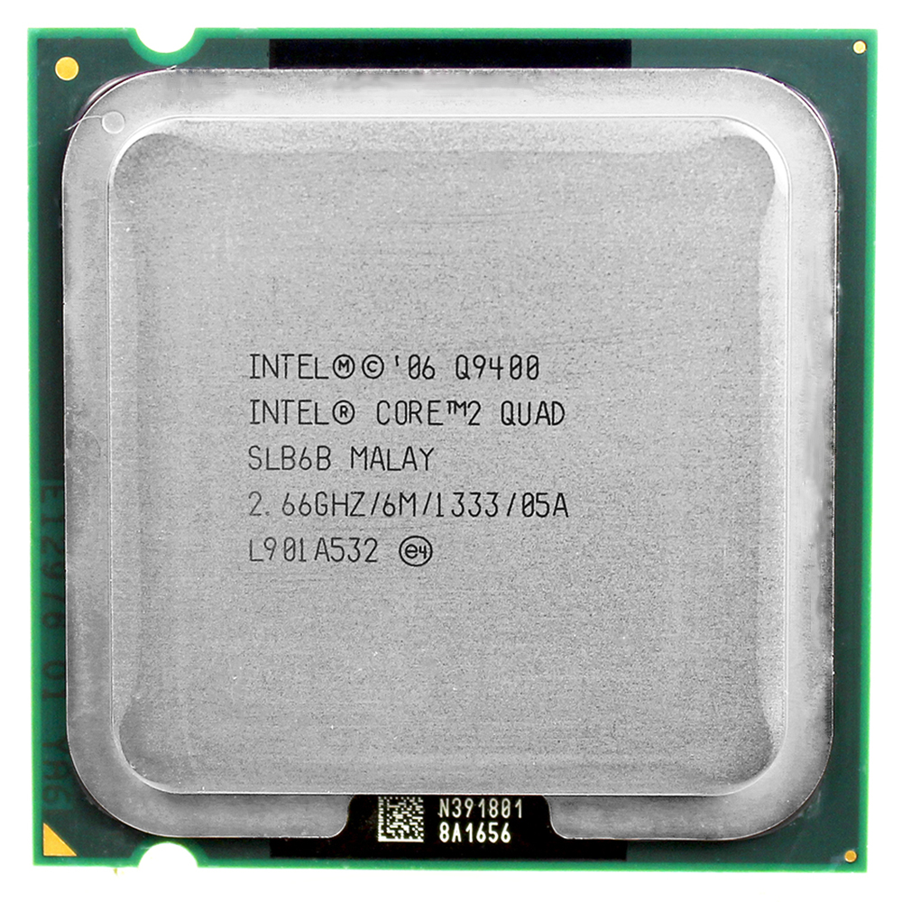 intel core 2 quad Q9400 CPU-processor (2,66 GHz / 6 M / 1333 GHz) Socket LGA 775 Desktop CPU gratis verzending moederbord cpu combo