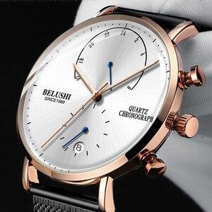 Image 2 - 2020 Men Business Wrist Watch Man Watches Chronograph Luxury Brand Male Clock Quartz Wristwatch Male Watch Mens Wristwatches