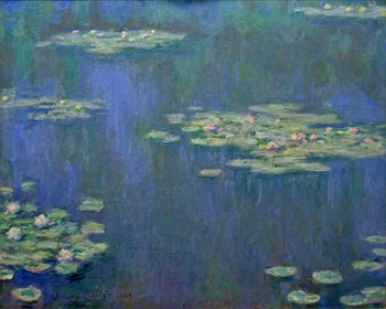 High quality Oil painting Canvas Reproductions Water Lilies (1905)1138 By Claude Monet hand painted