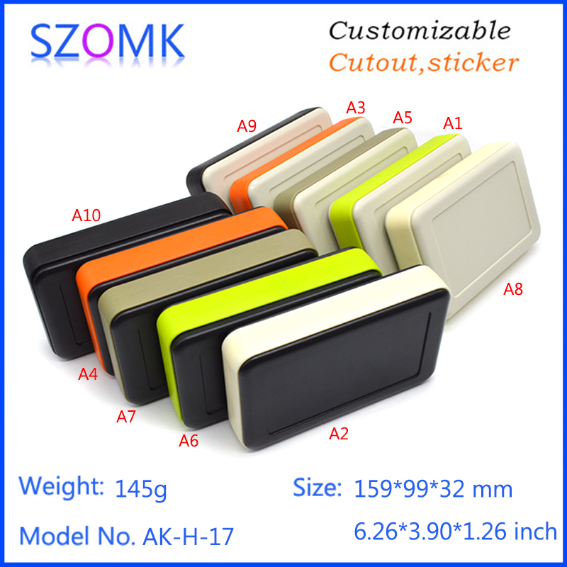 10 pcs 159 99 32mm wholesale szomk electrical abs plastic enclosure boxes LCD plastic electronics junction