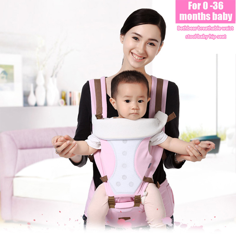 0 36 Months font b Baby b font Carries Breathable Multifunction Carrier Comfortable Infant Backpack Waist