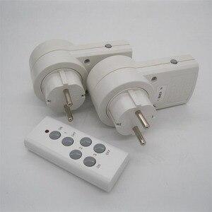 Image 5 - 2ชิ้นซ็อกเก็ตการควบคุมระยะไกลไร้สายหน้าบ้านเต้าเสียบไฟฟ้าสวิตช์ไฟซ็อกเก็ต+ 1ระยะไกลสหภาพยุโรปปลั๊กต่อBH9938 2 DC 12โวลต์