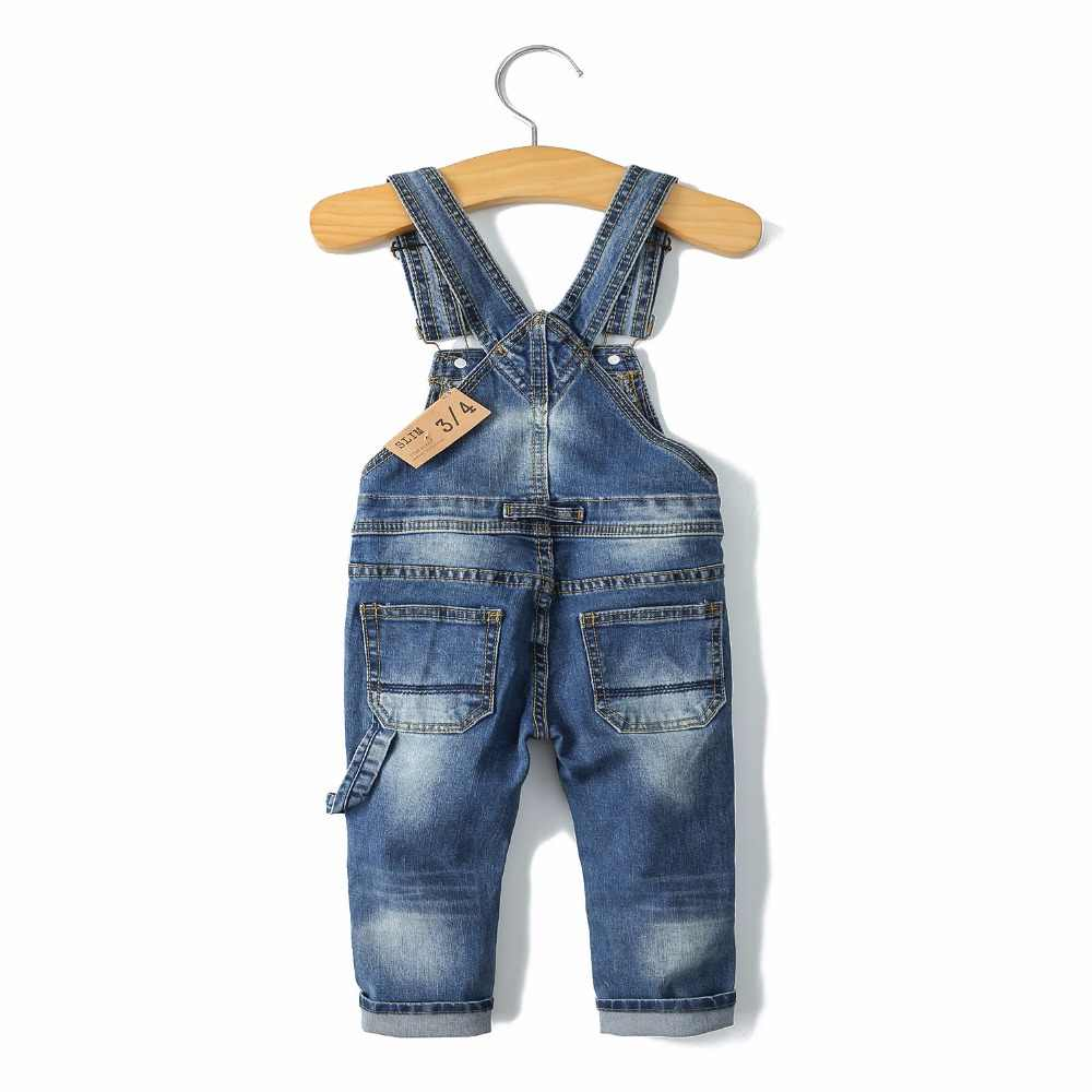 2-8T Bahar Çocuklar Tulum İnce Pantolon Erkek Kız Askı Önlük Kot Pantolon Çocuk Kot Tulum Giysileri Çocuk giyim