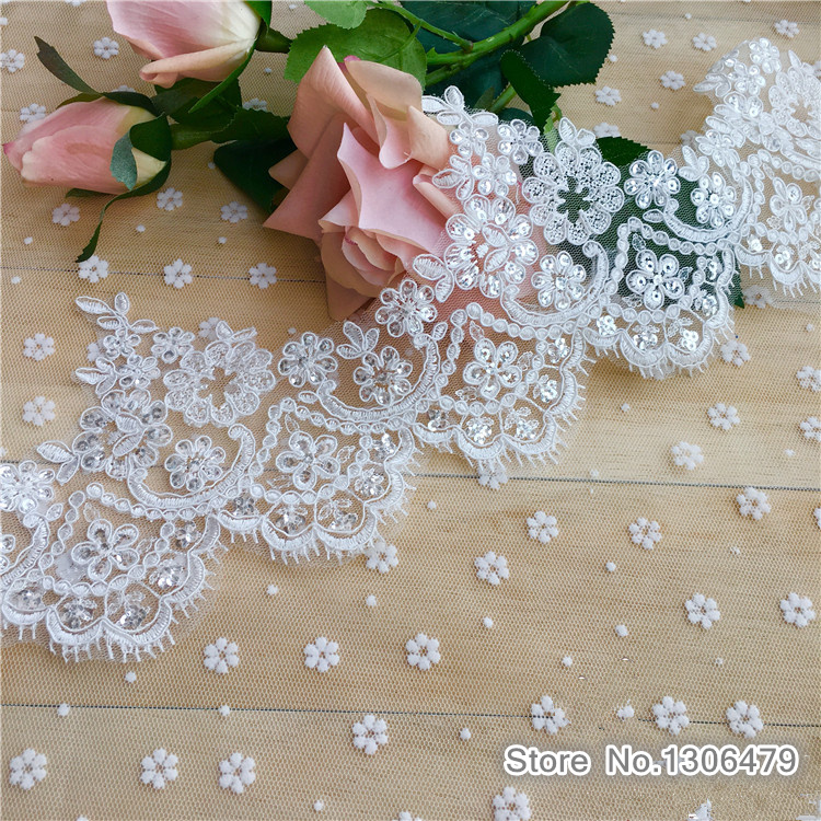 Apparel Sewing & Fabric Sweet-Tempered 3yards 14cm Wide White Fabric Flower Venise Venice Lace Trim Applique Sewing Craft For Wedding Dec.rs1517 Let Our Commodities Go To The World