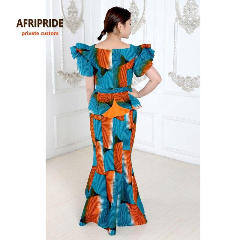 Izvorni afrički print klasični suknja set za žene AFRIPRIDE - Nacionalna odjeća - Foto 4