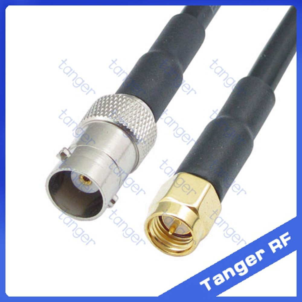 Hot sale Tanger BNC female jack to SMA male plug connector RF RG58 Pigtail Jumper Coaxial Cable 20inch 50cm High Quality lson female to female breadboard jumper dupont cable white black red blue yellow 28 pcs