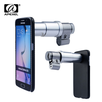 Newest Portable Jewelry LED 200X Microscope Magnifier Lens With Case for iPhone Samsung S6 edge smartphone CL-54-1