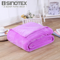 Home Textile Plaid Solid Air Sofa Bedding Throws Flannel Blanket Winter Warm Soft Bedsheet 100 140cm